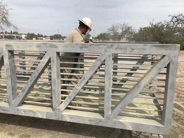 Blasting the new Heritage Farm bridge on NMSU campus.  #cleanblast #mediablasting #sandblasting  #concreteblasting #stuccoblasting #paintremoval #commercialwork #industrialwork #buildingrestoration #marine #lascruces #elpaso #newmexico #texas