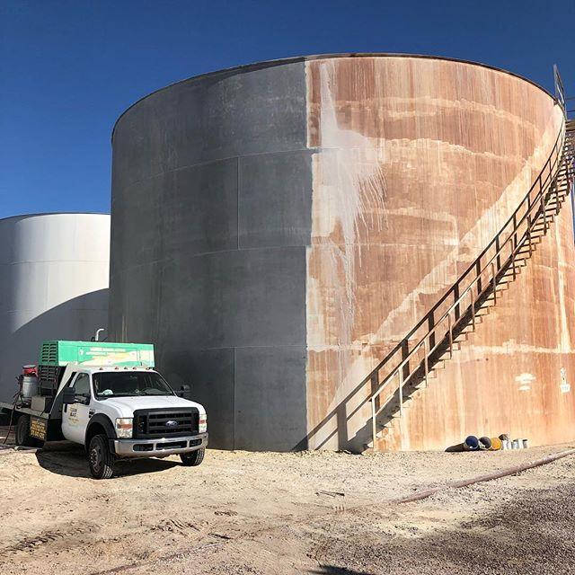 Blasted this big dog! Lid and stairs included.  #cleanblast #mediablasting #sandblasting  #concreteblasting #stuccoblasting #paintremoval #commercialwork #industrialwork #buildingrestoration #marine #lascruces #elpaso #newmexico #texas