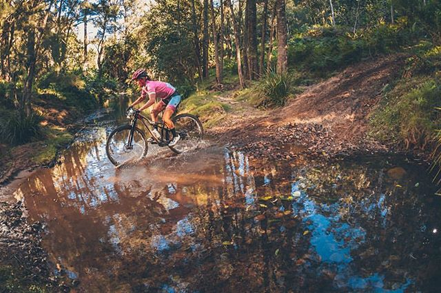 @samarasheppard venturing through some beautiful country side at @porttoportmtb - 📷@flow_mtb capturing the action at Cedar Creek during Stage 2. Looking forward to riding some trails today at AWABA Mountain Bike Park today for Stage 3 ! #pinkjersey #specializedracing #pleingaz #ridehardhavefun #iamspecialized #porttoportmtb #stagerace #mtb