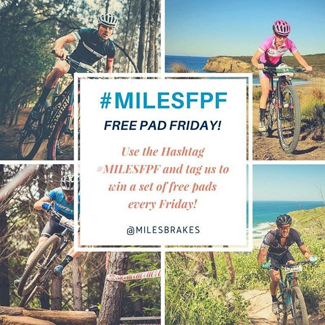 It's our first ever 'Free Pad Friday'! All you have to do is use the hashtag #MILESFPF and tag us in your Facebook or Instagram photo to be in the draw!  We have 5 sets of pads to give away! Competition is only open to Australian or European Riders!