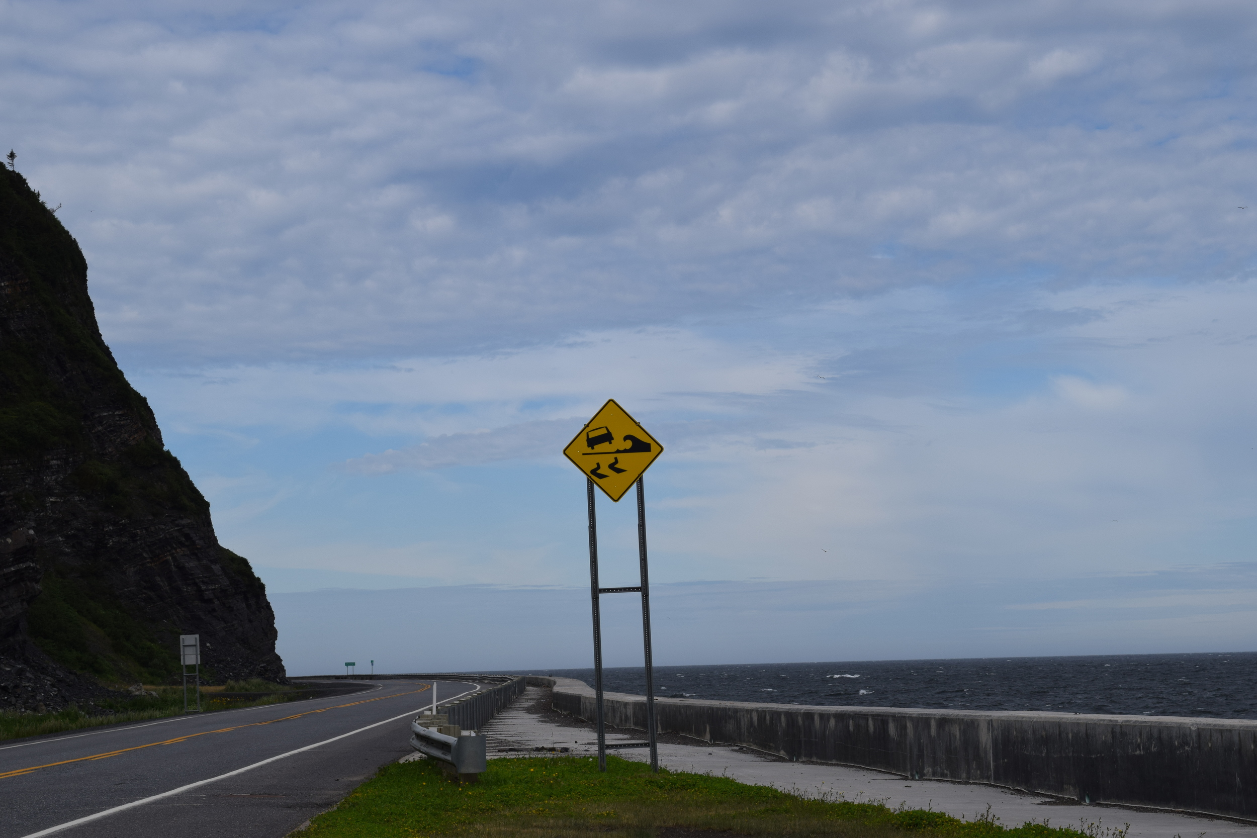 The spectacular road (Route 132) on the north side of the Gaspe peninsula.