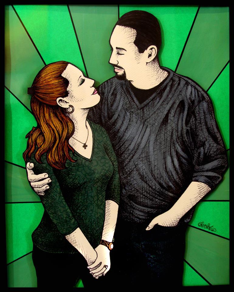 Amy Nawrocki and Eric Lehman, by Ricky Mestre