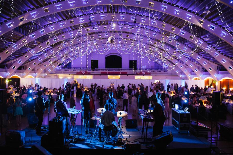 Guests danced under a canopy of lights while the live band kept the party going all night long