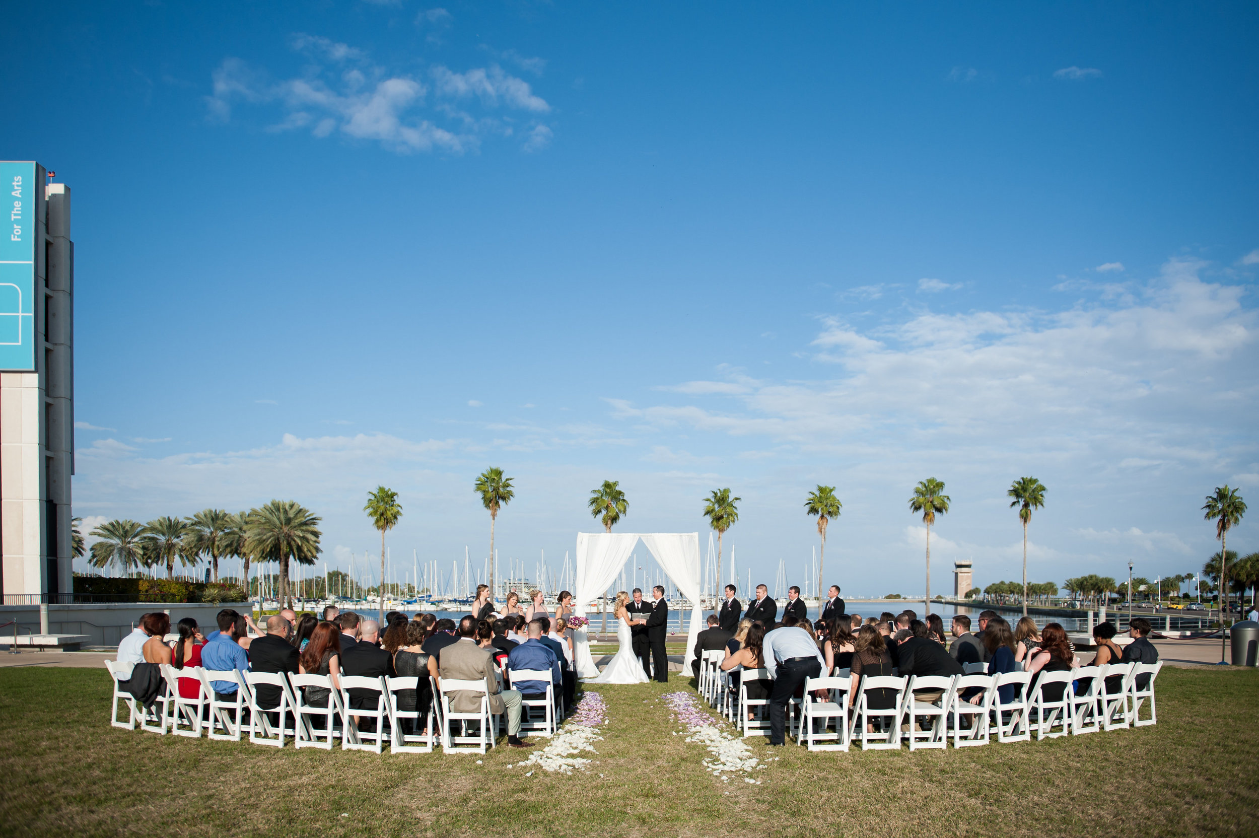 The lawn of the Mahaffey Theater set the stage with stunning ceremony views