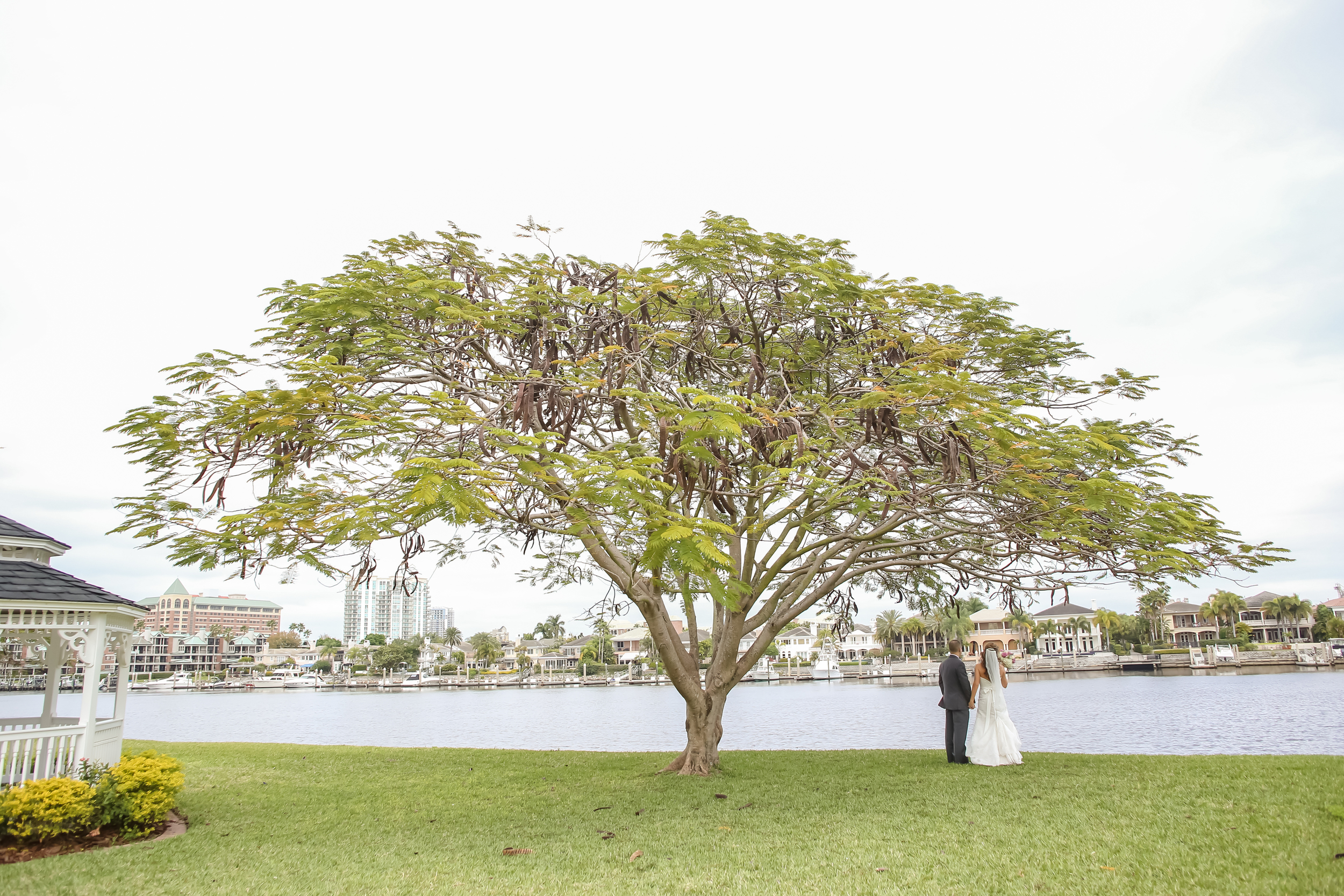 The couple enjoyed the waterfront views of the Davis Islands Garden Club.