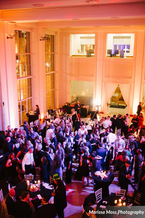 A view of the reception from the second floor of The Vault; what a party!