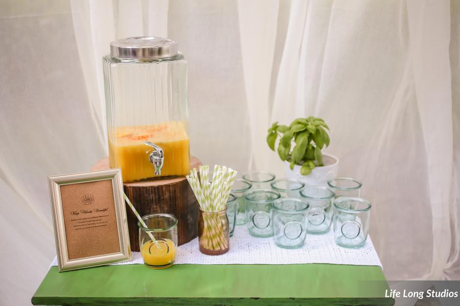 winsor event studio mimosa bar recycled glass