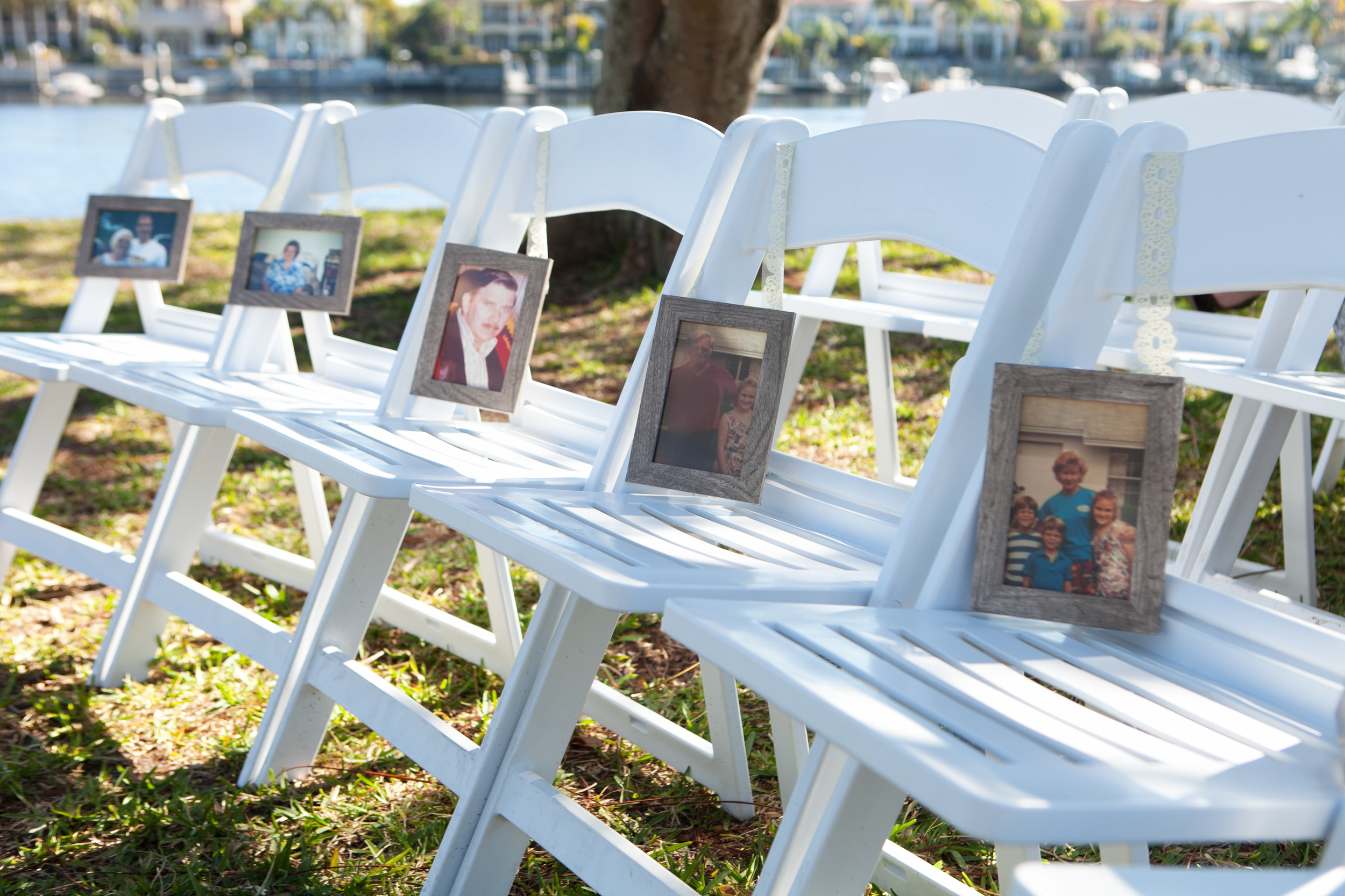 Pictures of special family members who were not present were displayed at the ceremony