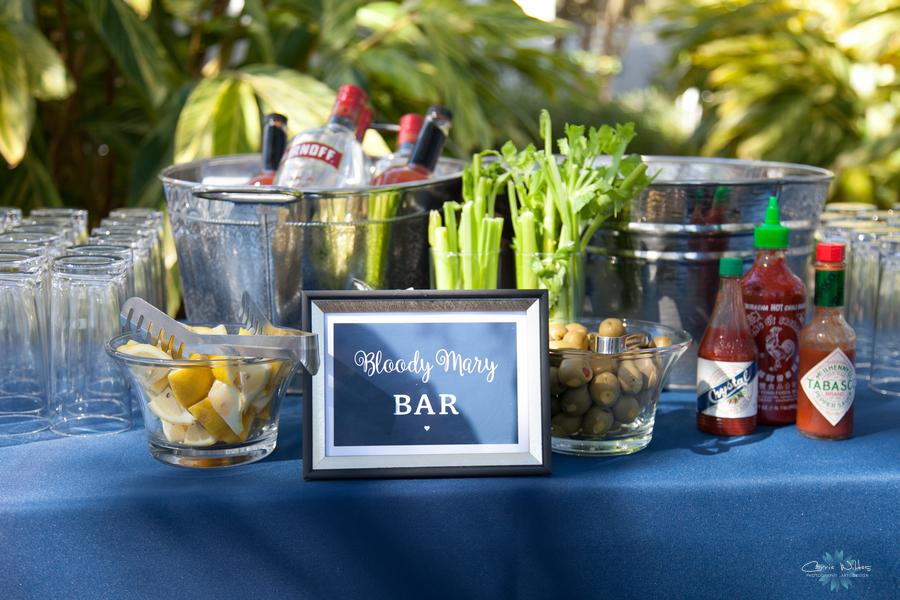Guests enjoyed a Bloody Mary Bar and a Mimosa Bar during the brunch reception