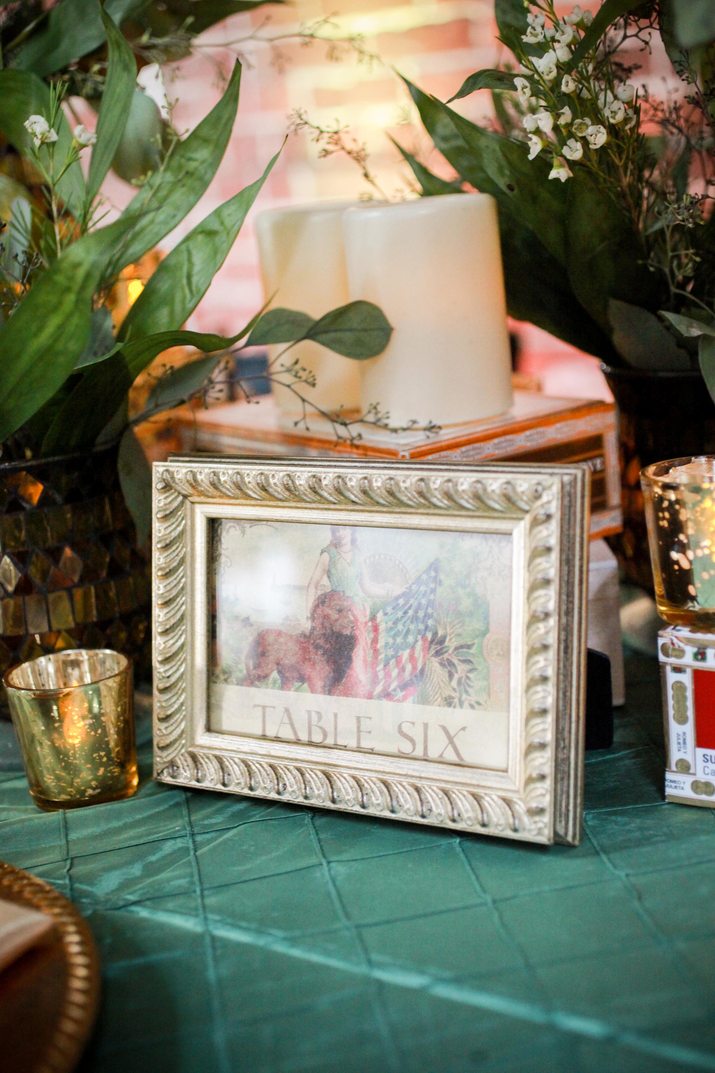 winsor event studio cigar box table number wedding