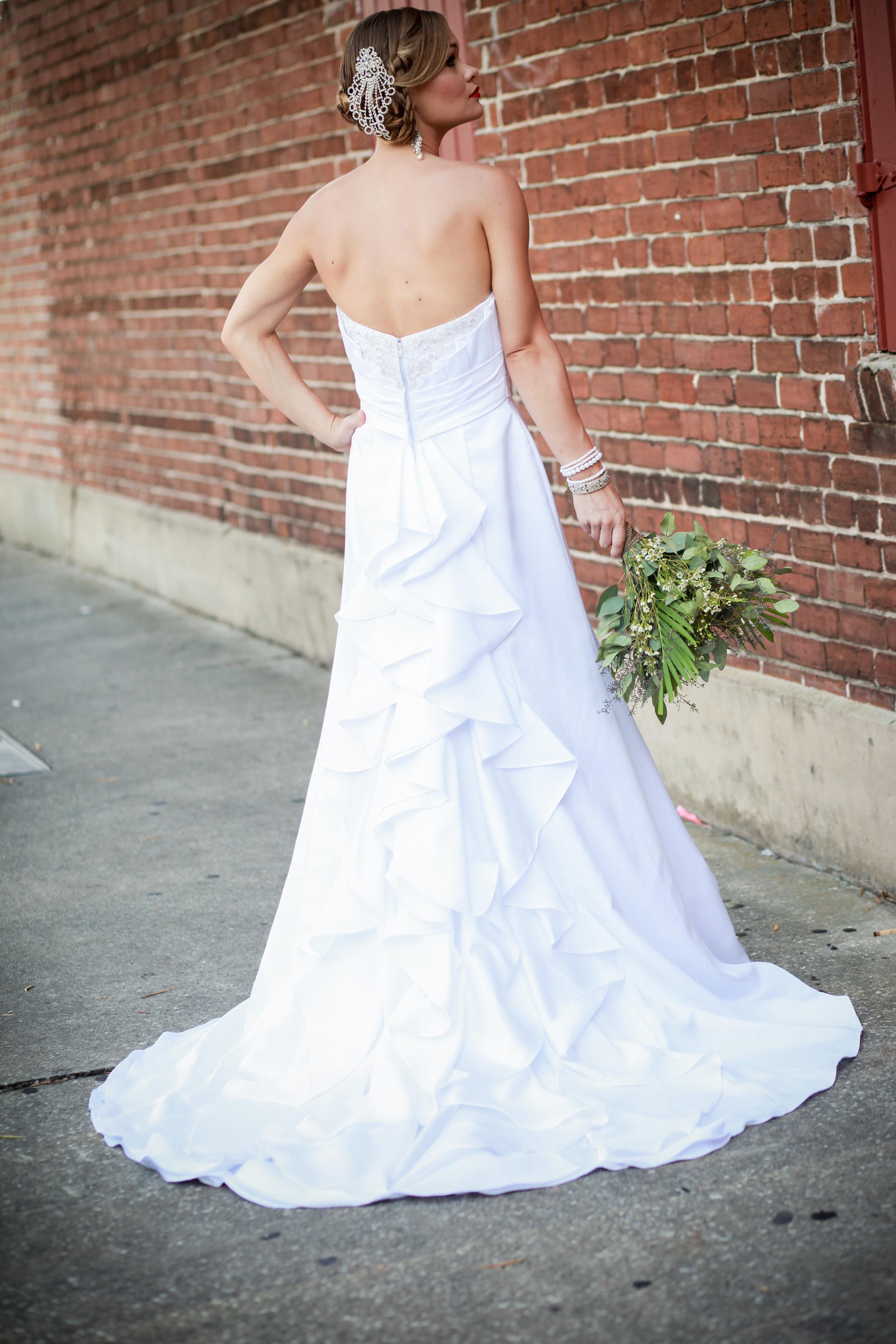 winsor event studio flamenco ruffle wedding gown