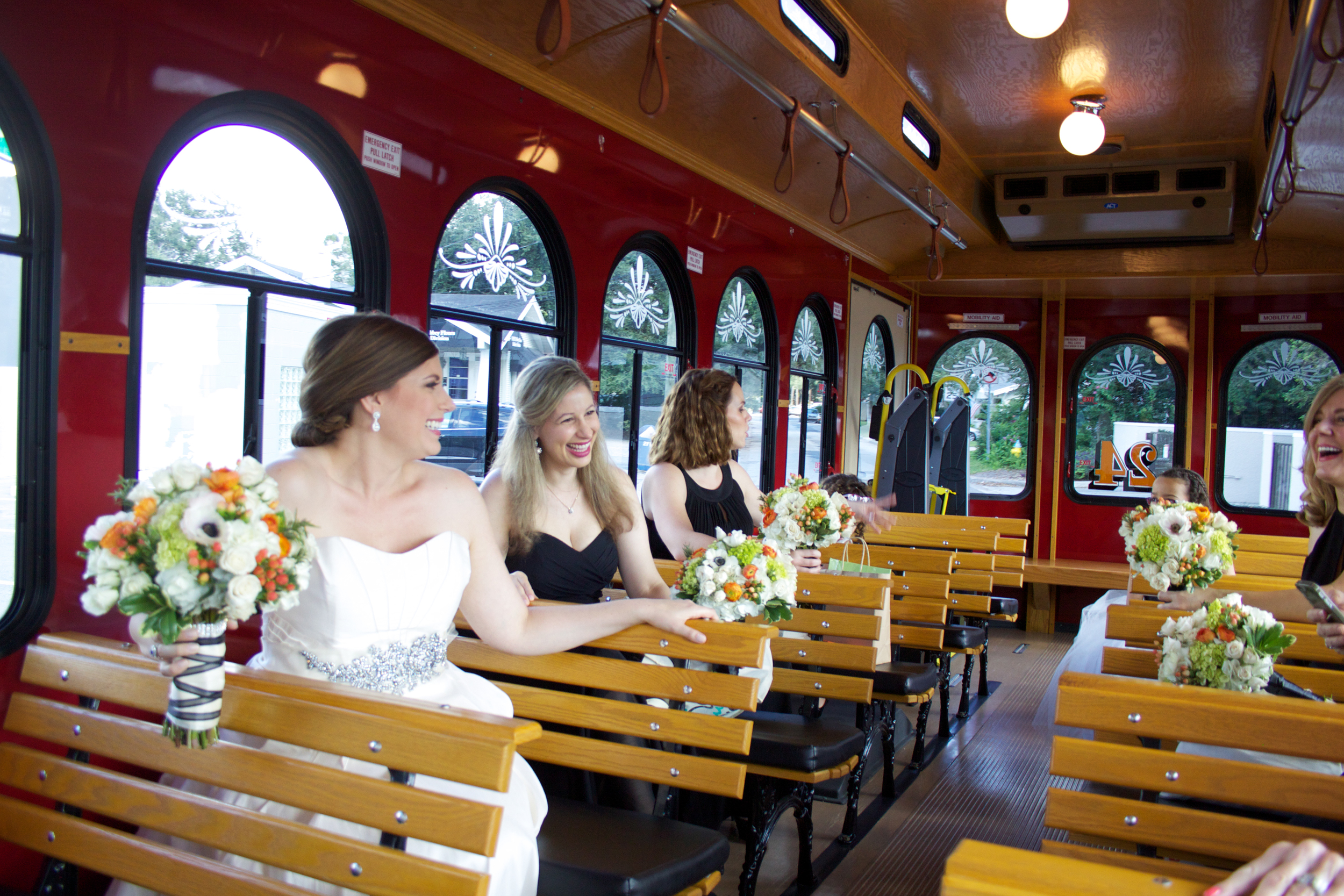 Commuting in style, via a charming trolley car!