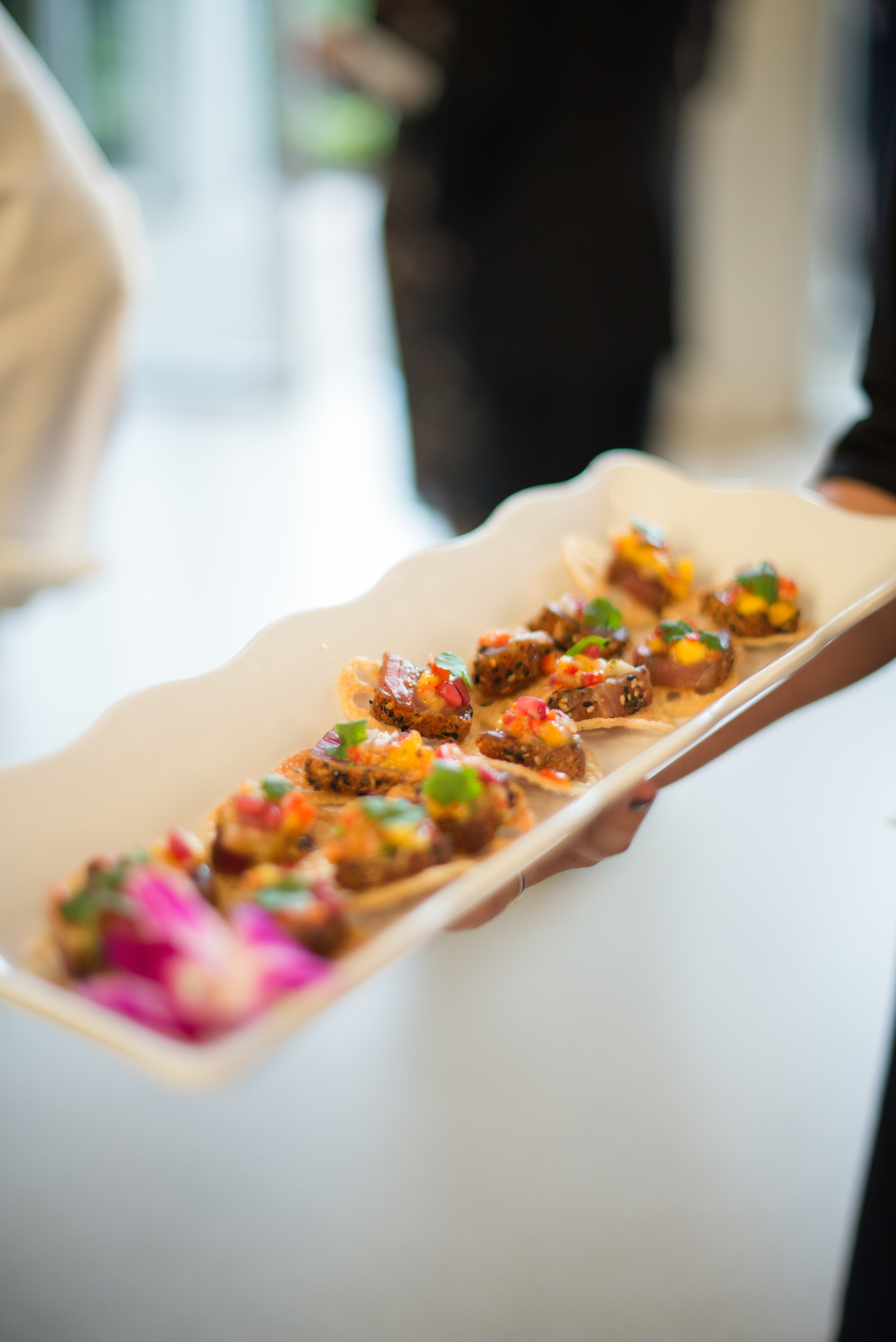 No Florida wedding is complete without fresh seafood, like these tropical tuna canapes