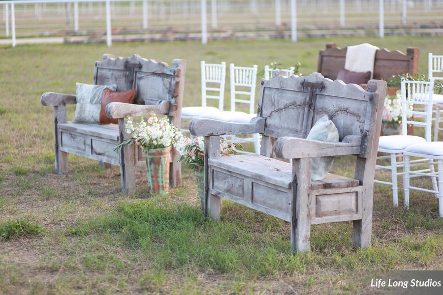 winsor event studio outdoor wedding bench chiavari chairs
