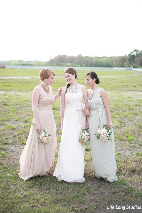 winsor event studio neutral bridesmaid dresses