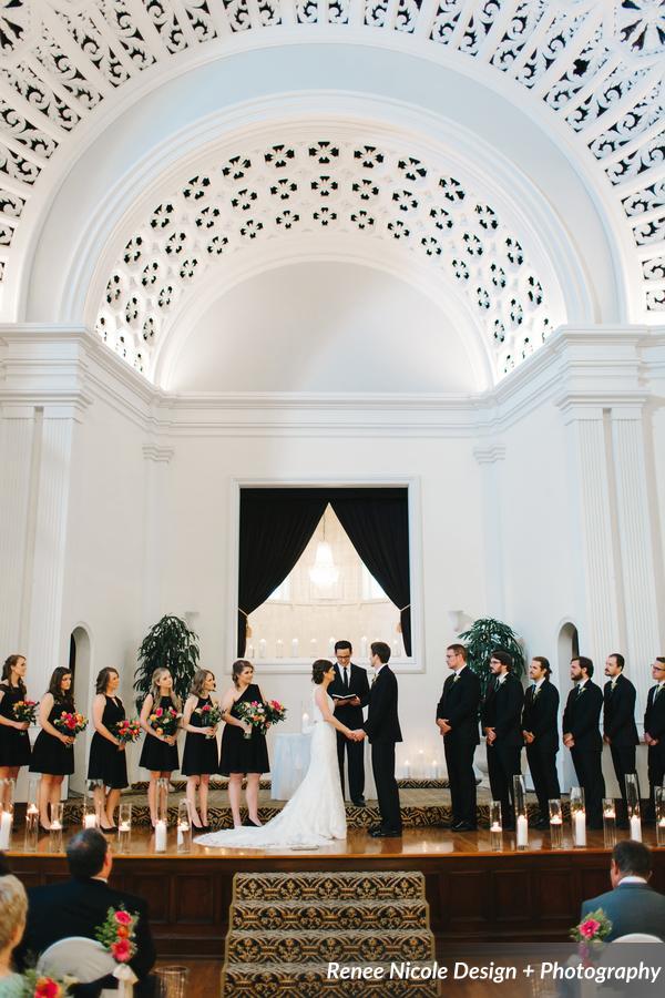 winsor event studio mirror lake lyceum indoor wedding ceremony
