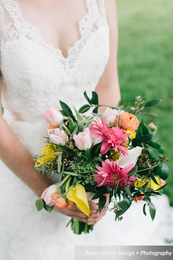 winsor event studio colorful bouquet