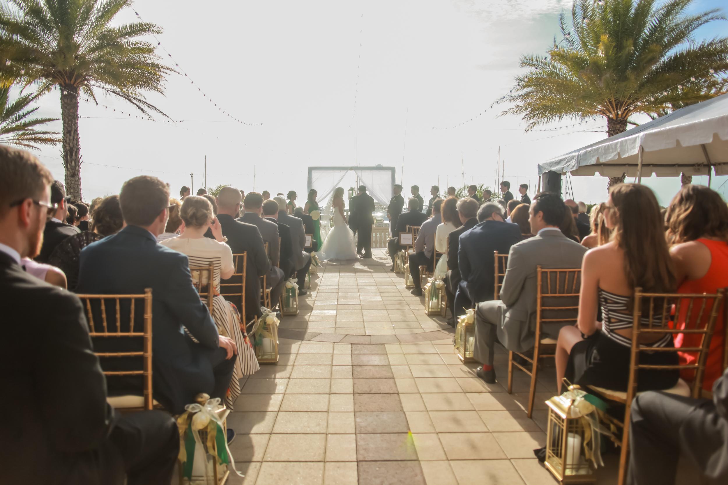 winsor event studio westshore yacht club wedding outdoor ceremony