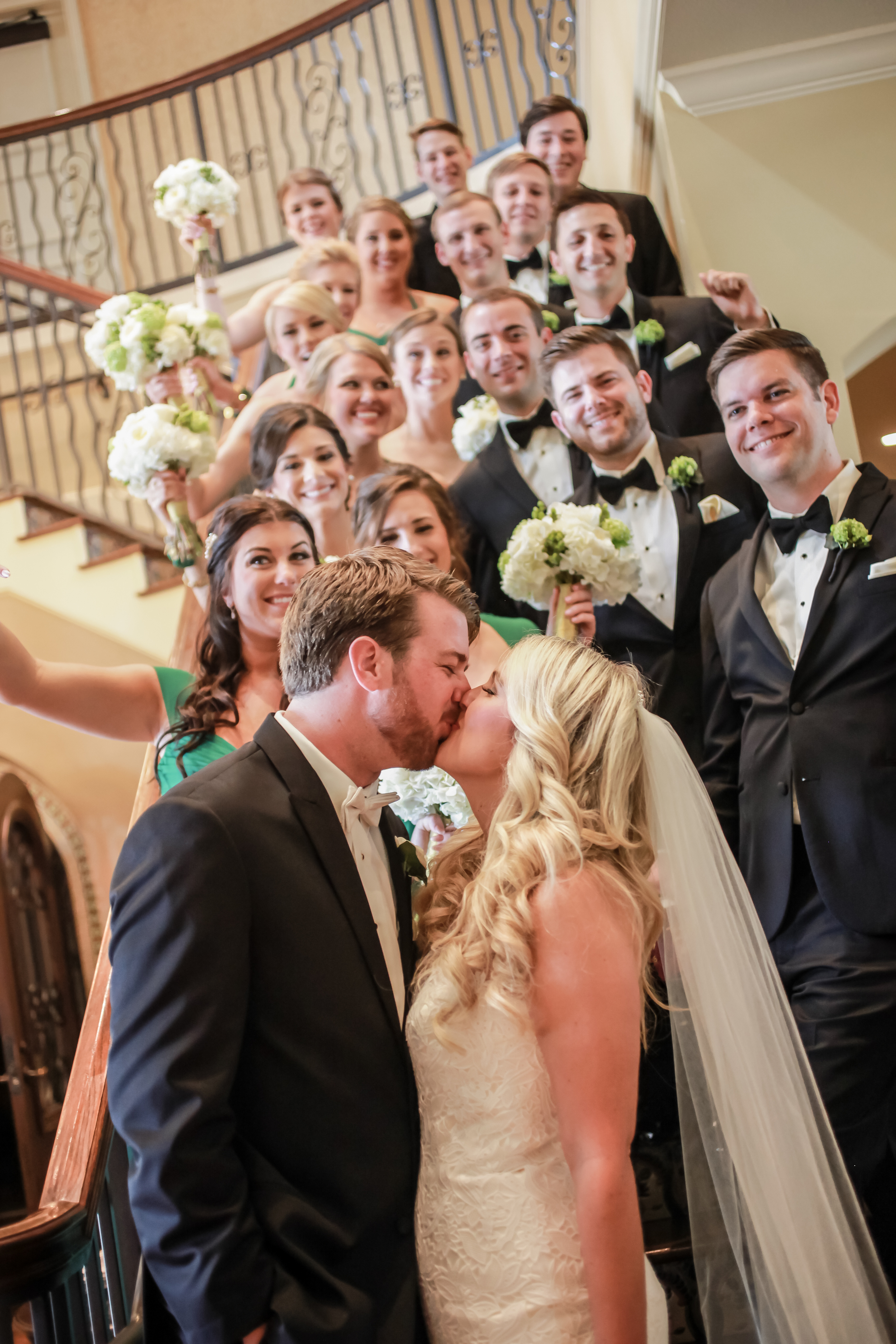 winsor event studio wedding party staircase westshore yacht club
