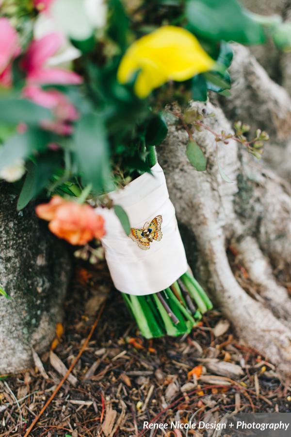 winsor event studio butterfly brooch bouquet
