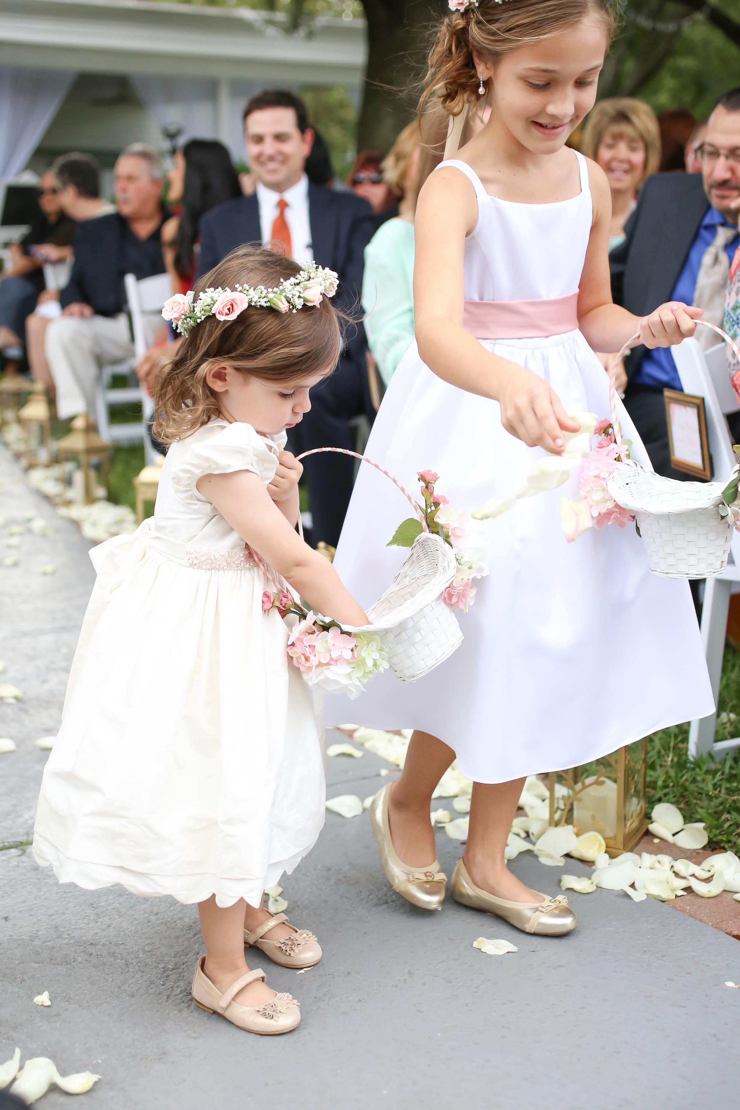 winsor event studio flower girls wedding