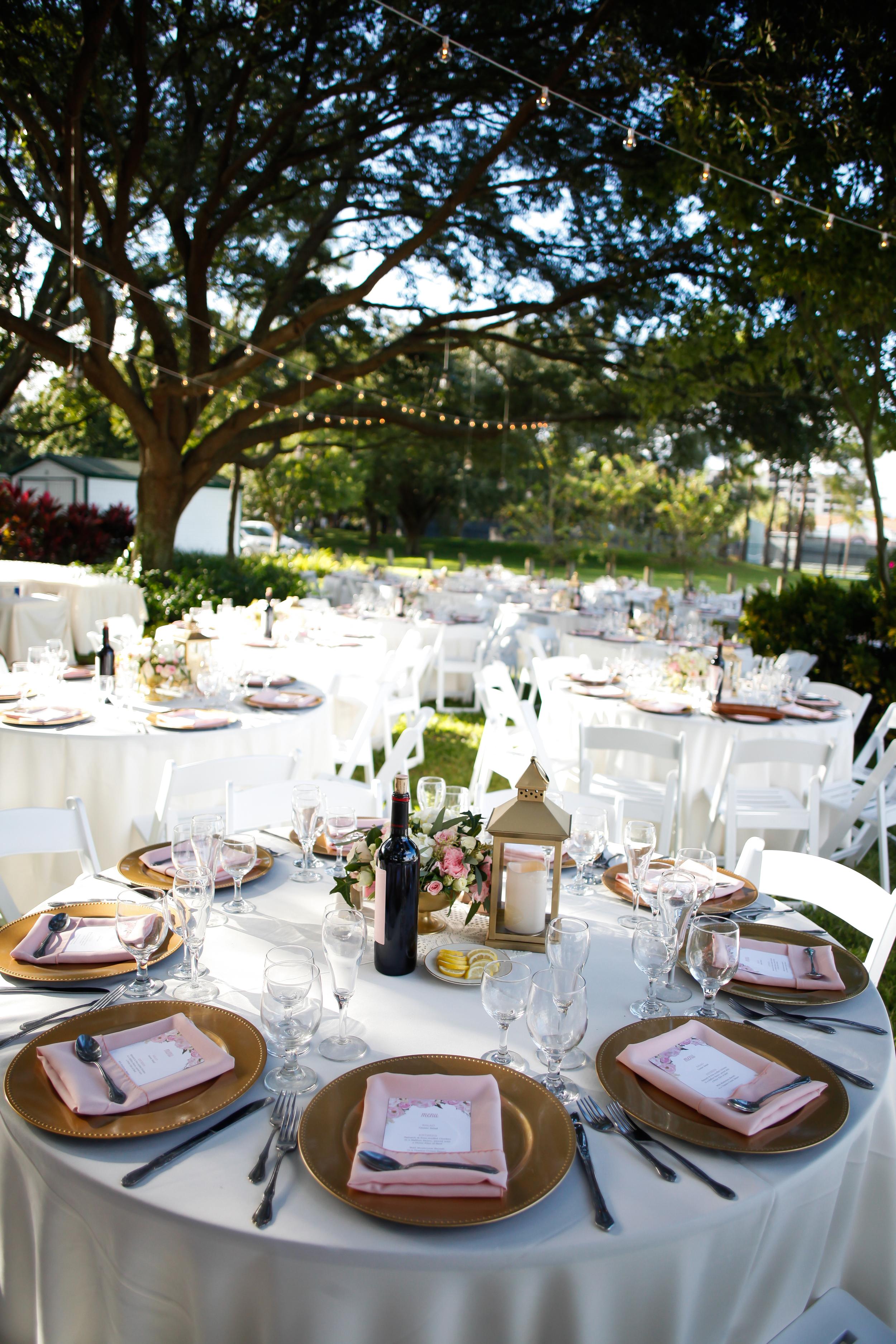 winsor event studio outdoor reception wedding davis islands garden club