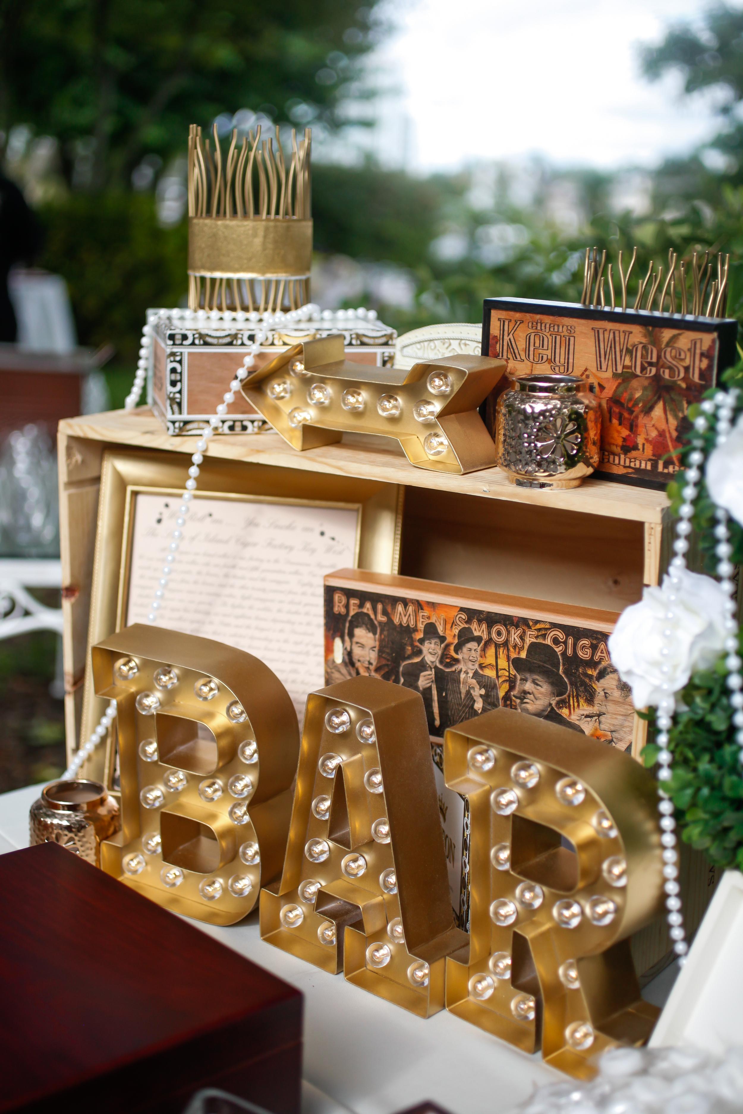 winsor event studio wedding cigar bar