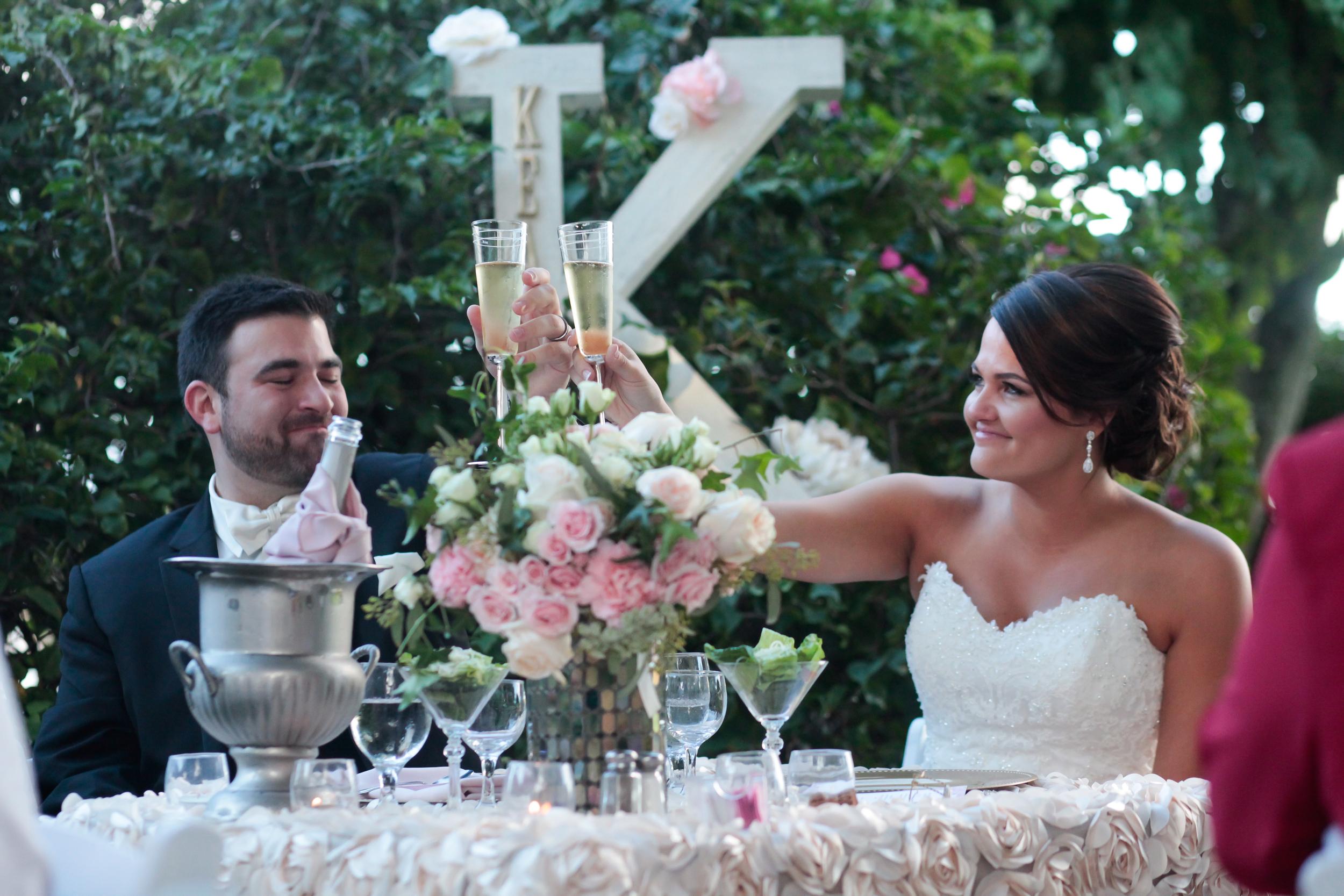 winsor event studio sweetheart table bride groom
