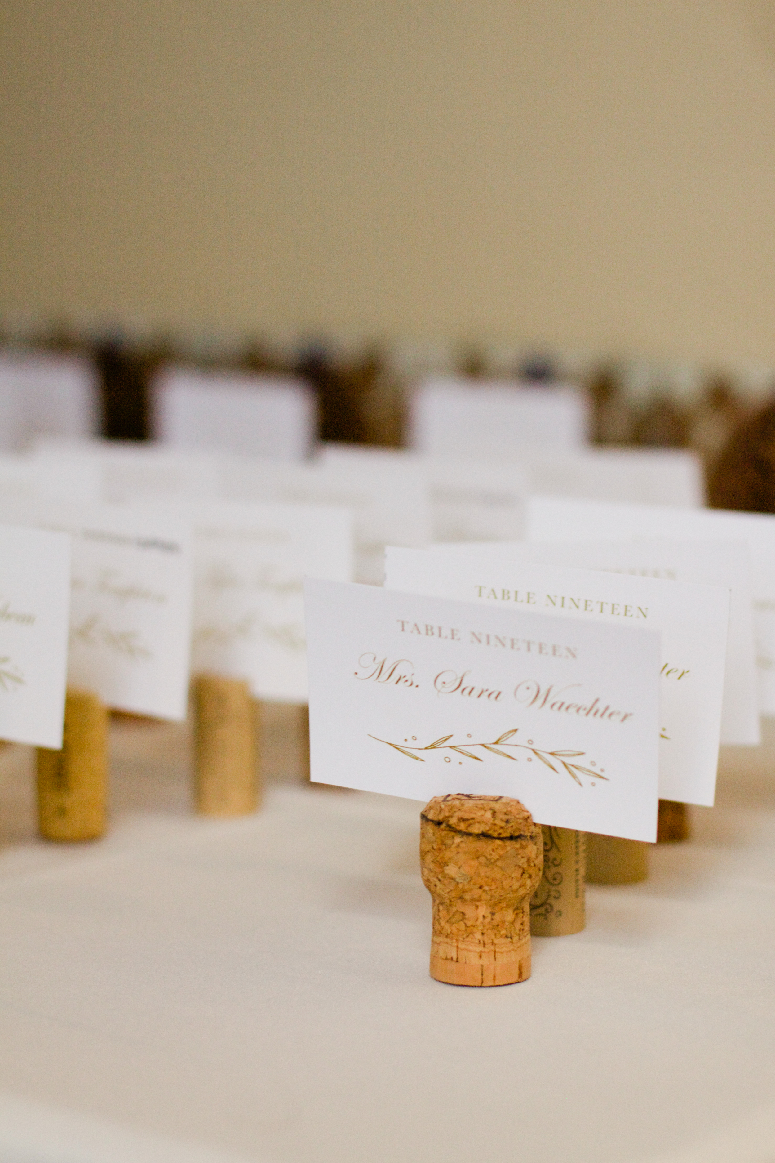 winsor event studio wine cork escort cards wedding seating chart table assignments