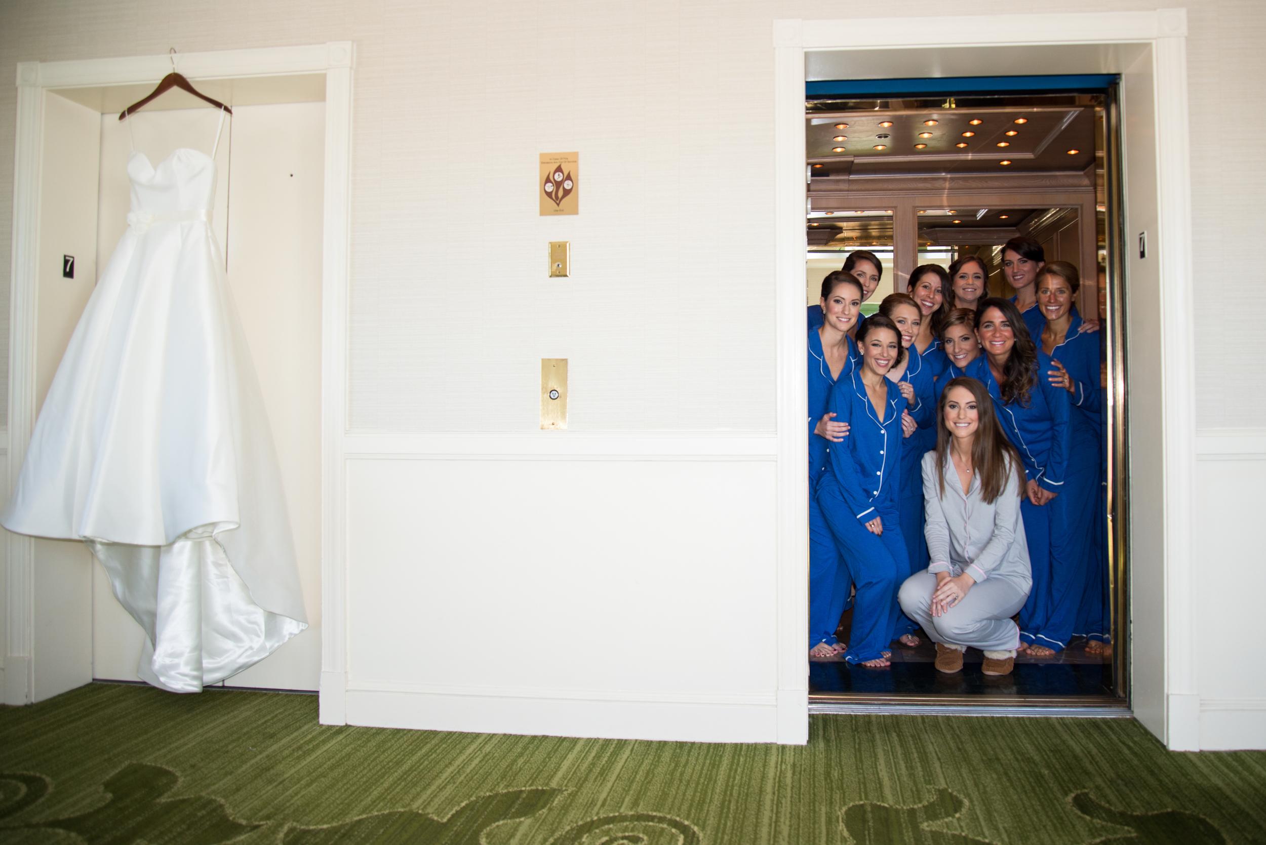 winsor event studio bridesmaids pajamas