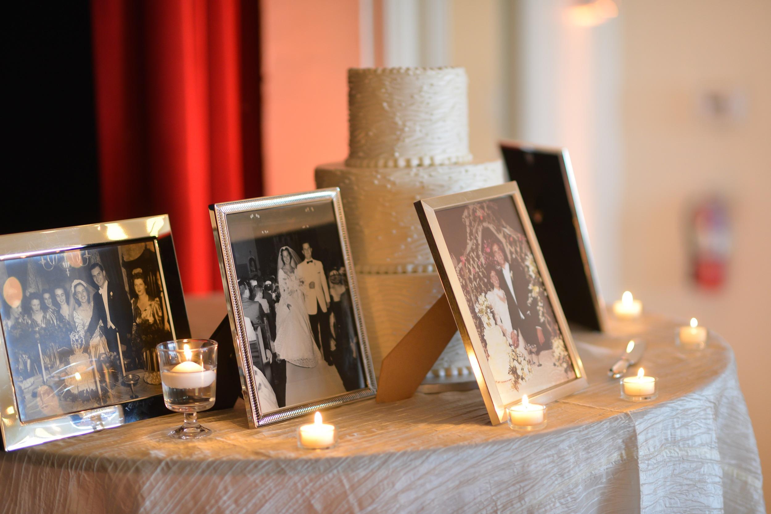 winsor event studio wedding cake family photos picture frames
