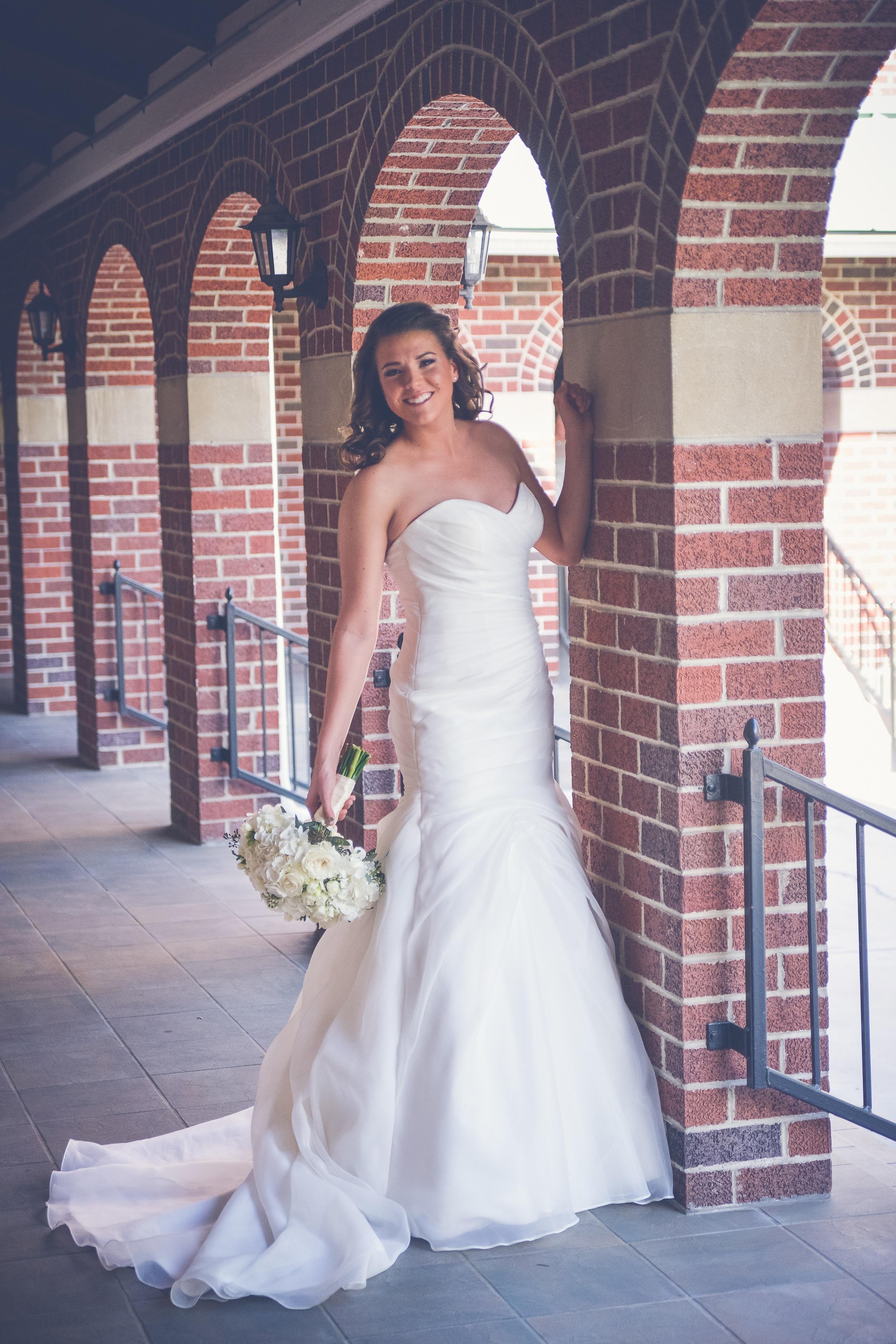 winsor event studio bridal gown dress ivory bouquet