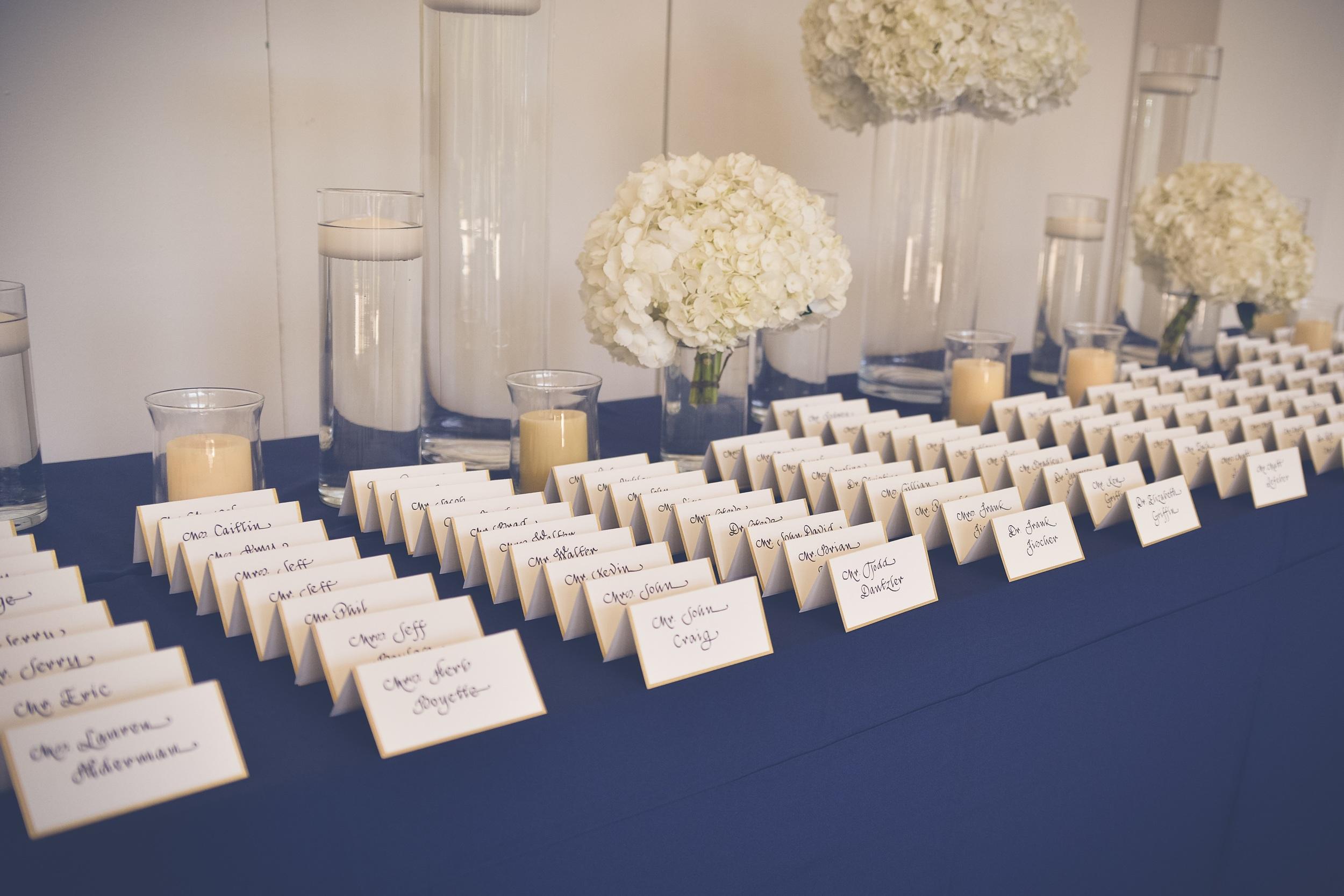 winsor event studio wedding escort card display