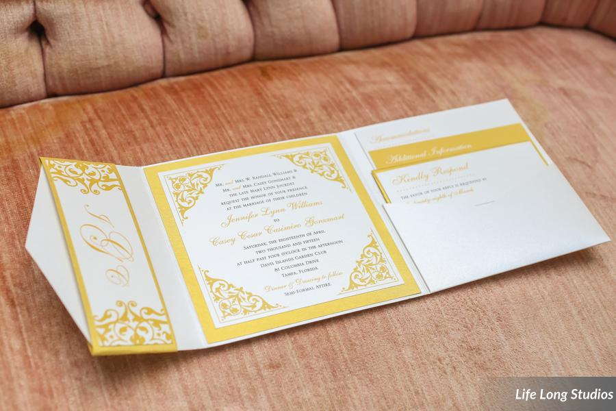 winsor event studio pocket invitation gold