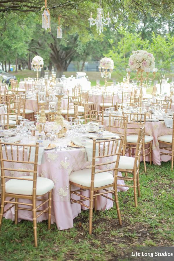 winsor event studio outdoor garden wedding reception davis islands garden club gold blush