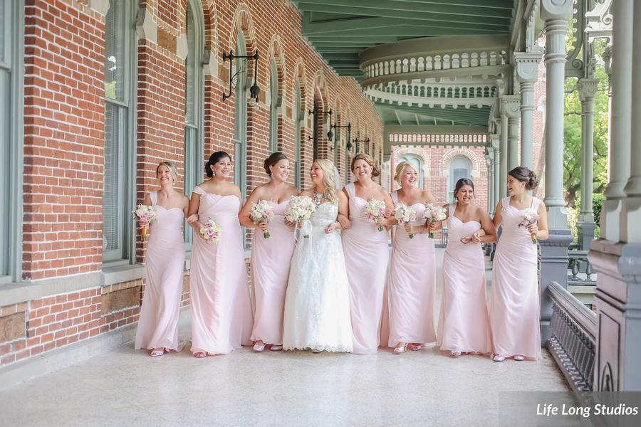 winsor event studio blush bridesmaid dresses university of tampa wedding