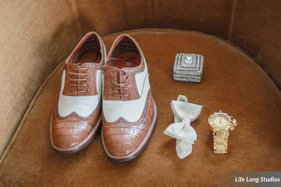 winsor event studio groom shoes bow tie wedding