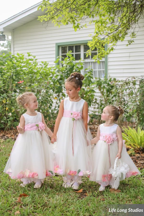 winsor event studio ivory blush flower girl wedding