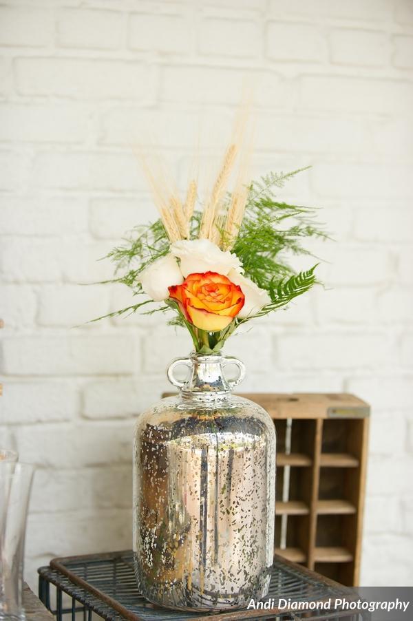 winsor event studio beer bottle growler vase wedding