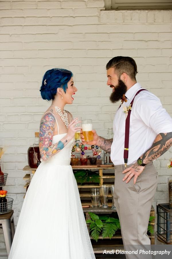 winsor event studio beer brew hipster wedding industrial chic