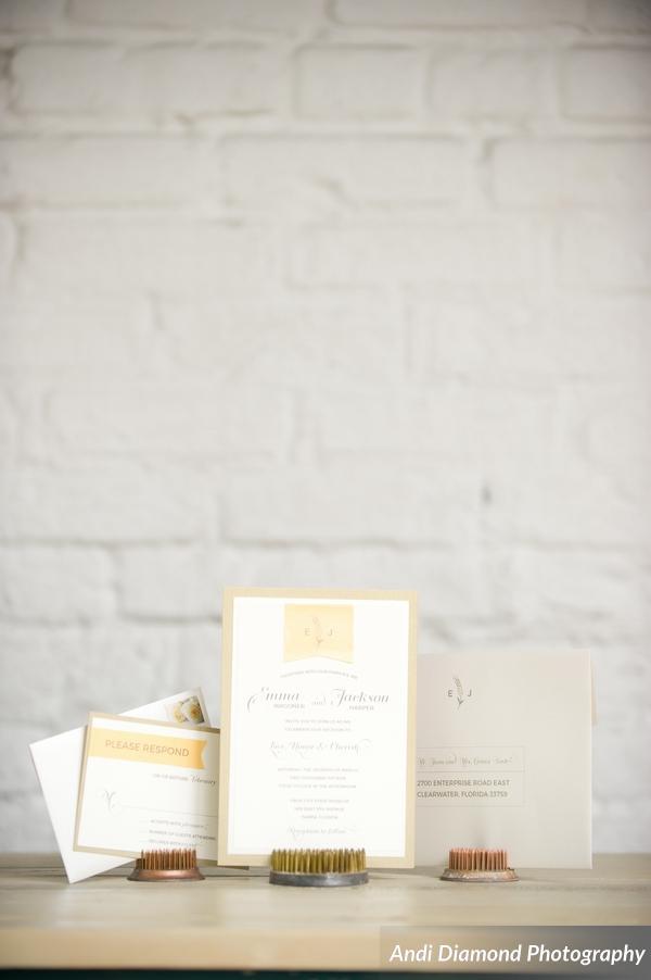 winsor event studio brew beer wedding invitation stationery