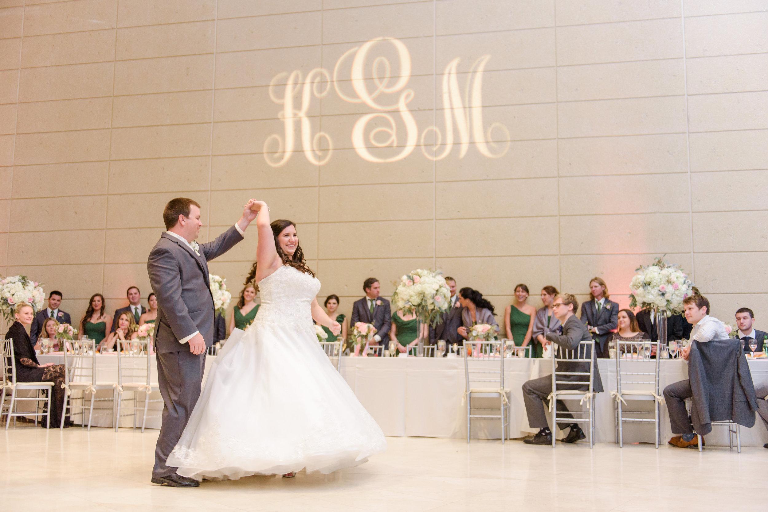 winsor event studio monogram gobo museum fine arts mfa wedding