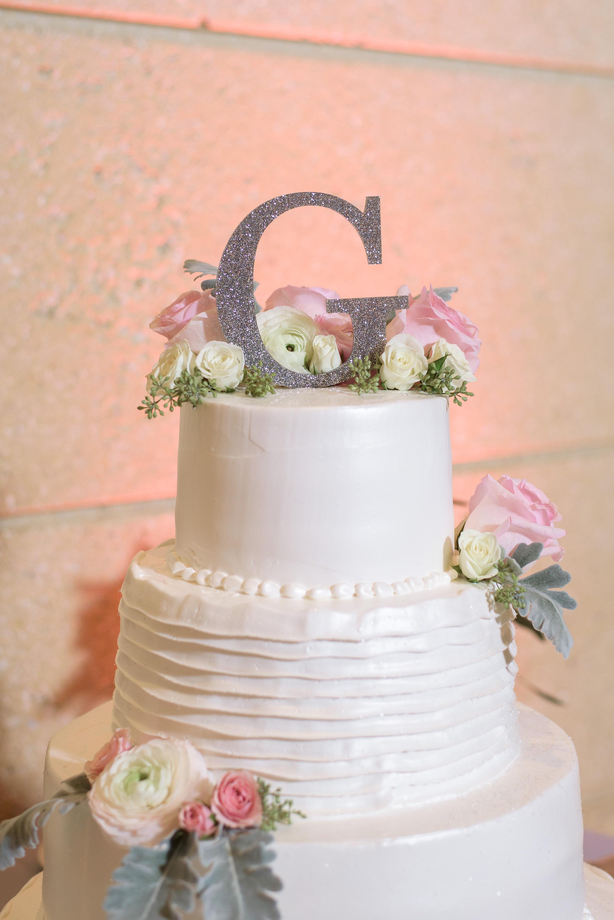 winsor event studio olympia wedding cake monogram