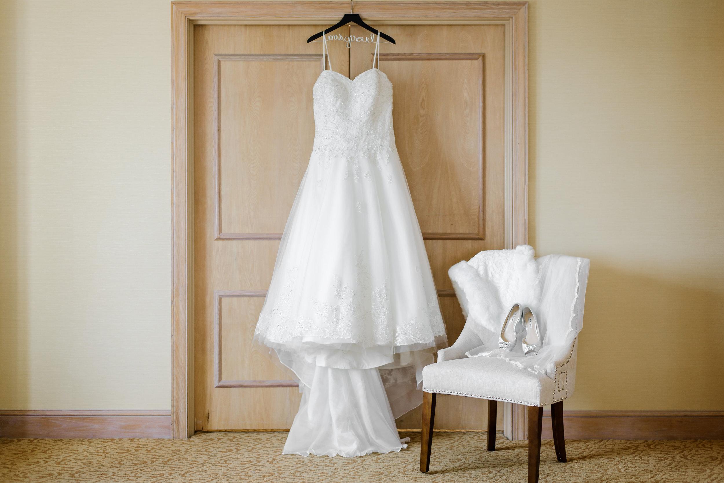 winsor event studio wedding dress hanging shot