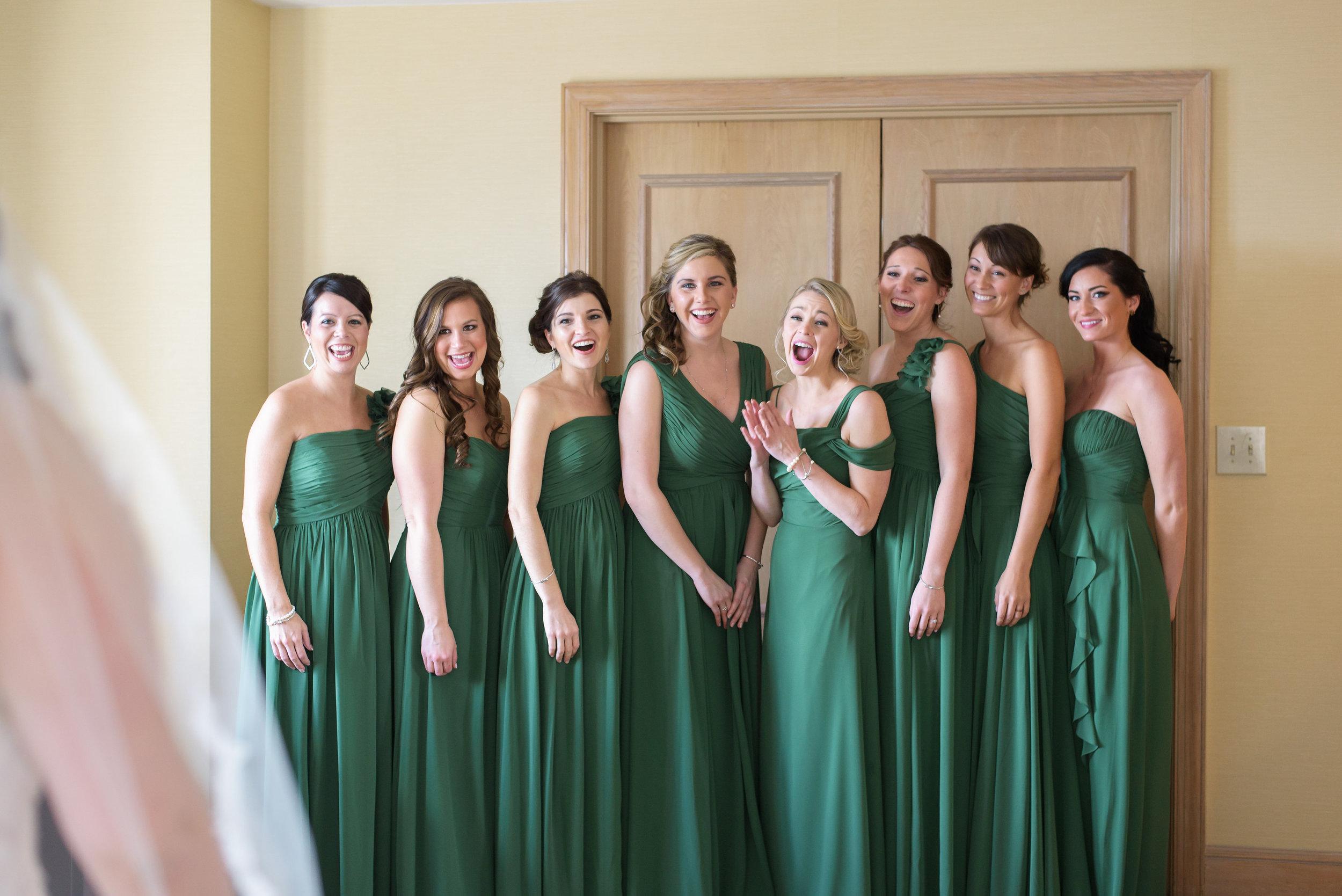 winsor event studio bridesmaid first look