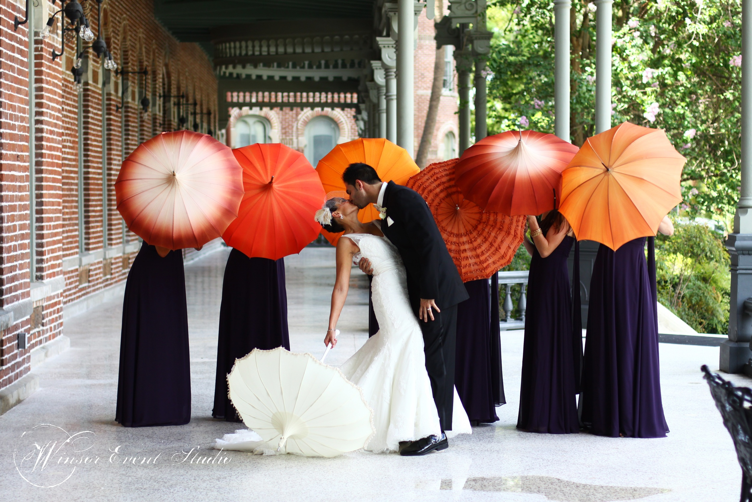 winsor event studio wedding parasols university of tampa henry plant museum