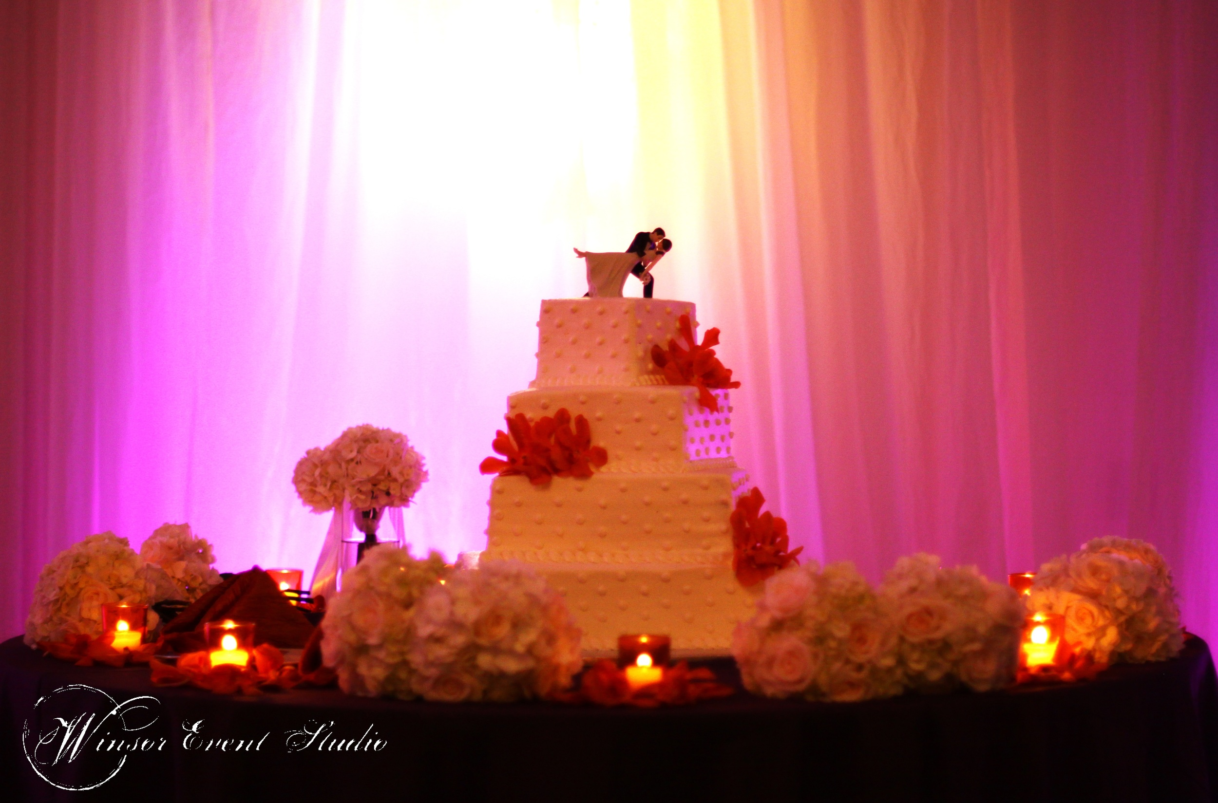 winsor event studio wedding cake