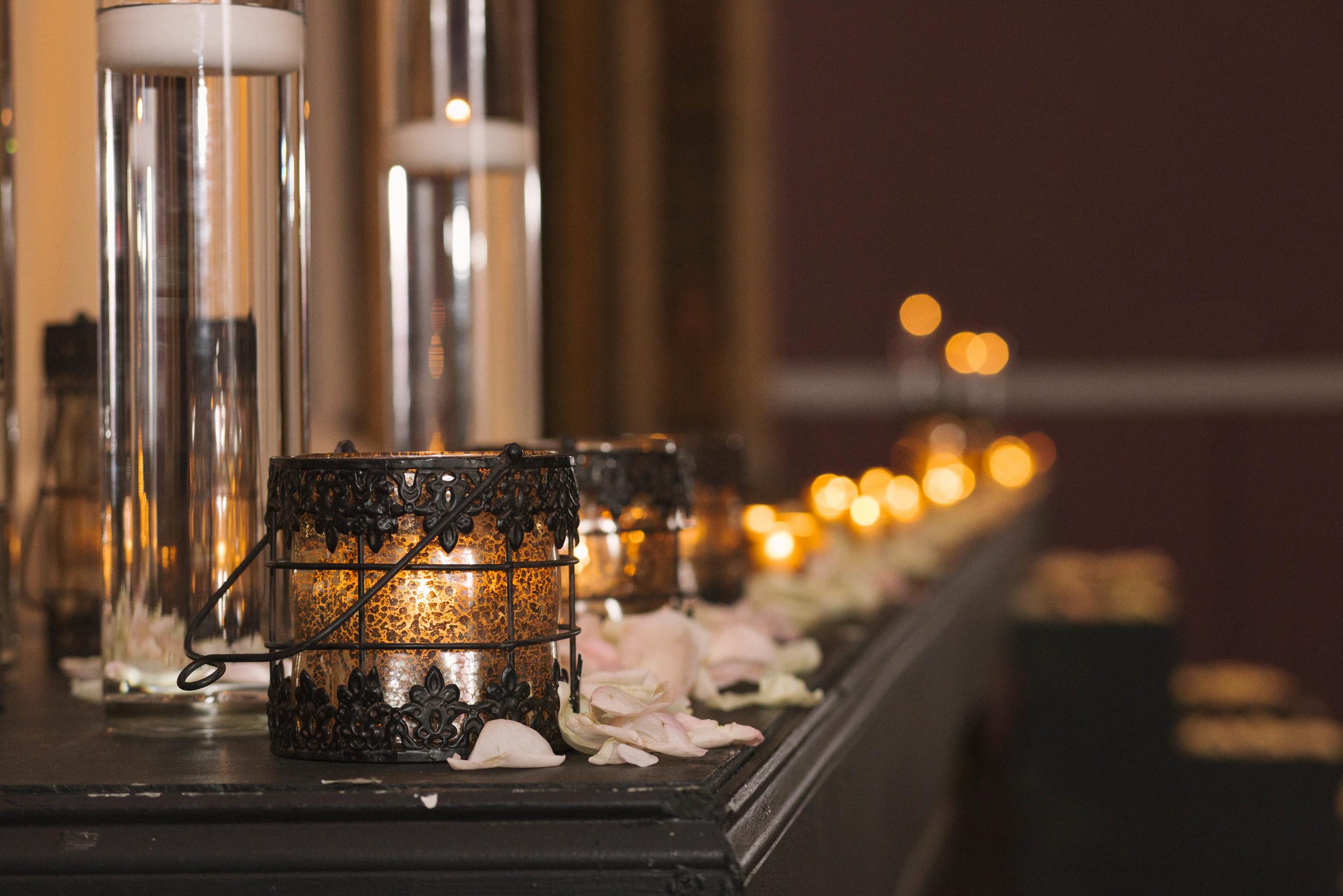 winsor event studio stage wedding ceremony candles