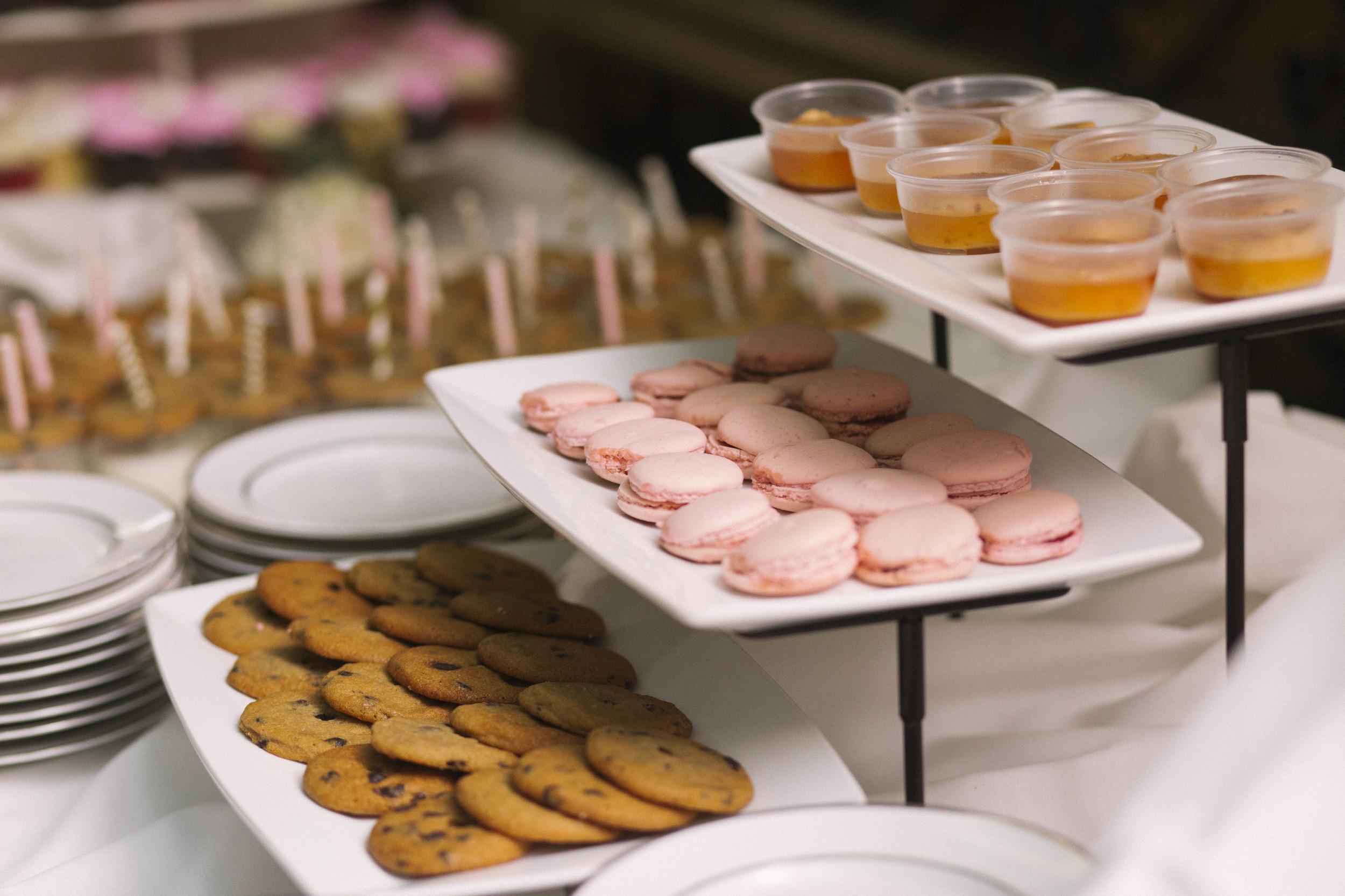 winsor event studio wedding dessert display bar buffet macarons