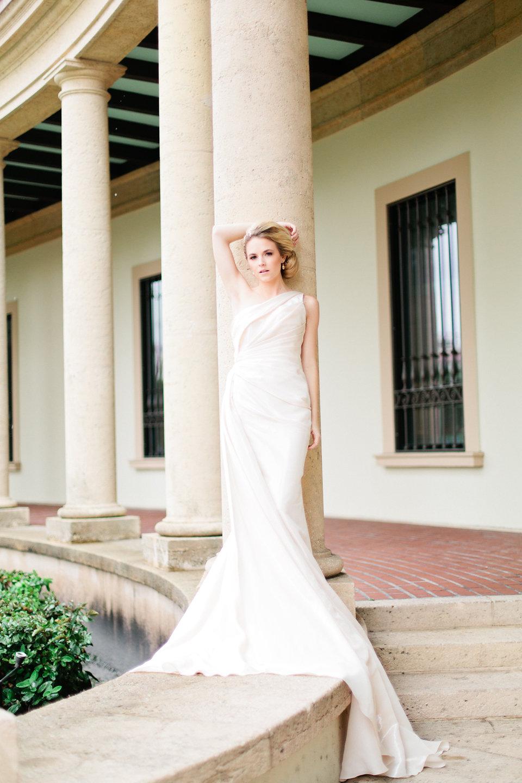 winsor event studio one shoulder wedding gown dress fit flare mermaid